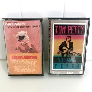 Vintage 1980's Tom Petty cassette tapes set of 2